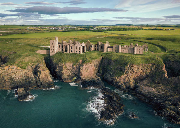 Imposing Wall Art - Photograph - Slains Castle by Dave Bowman