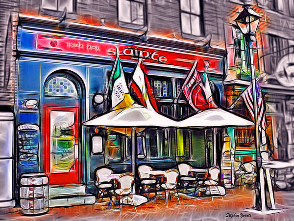 Wall Art - Mixed Media - Slainte Irish Pub And Restaurant by Stephen Younts