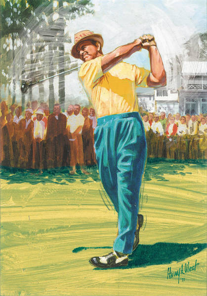Golf Painting - Slam'n Sammy by Harry West