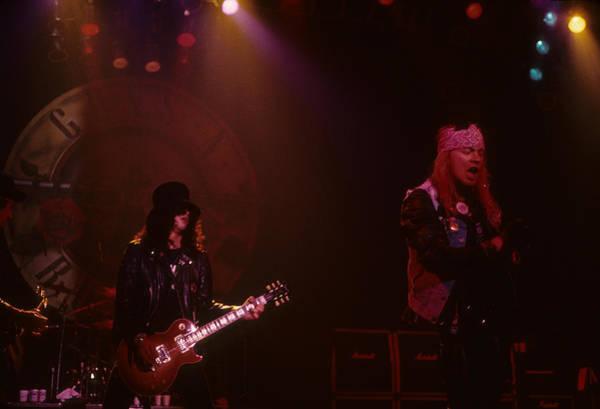 Photograph - Slash And Axl Rose by Rich Fuscia