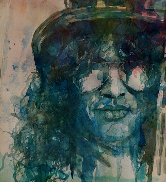 Musician Wall Art - Painting - Slash  by Paul Lovering