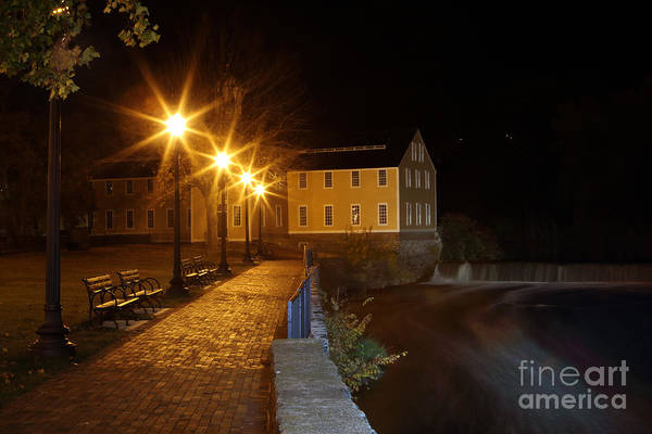 Jim Richards Photograph - Slater Mill At Night by Jim Beckwith