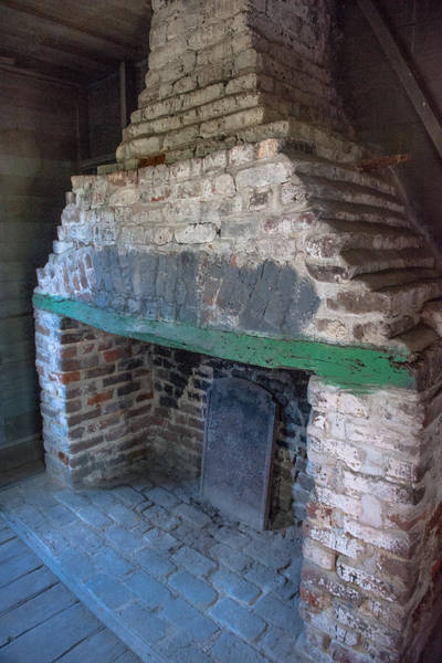 Photograph - Slave Cabin Fireplace by Dale Powell