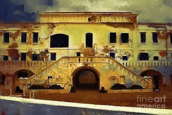 Ghana Painting - Slave  Castle Ghana by Deborah Selib-Haig DMacq