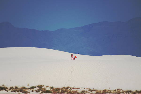 Photograph - Sledding On The White Sands by Colleen Cornelius