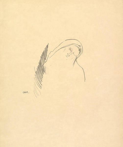 Relief - Sleep by Odilon Redon