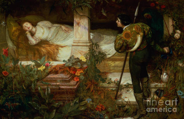 Wall Art - Painting - Sleeping Beauty by Edward Frederick Brewtnall
