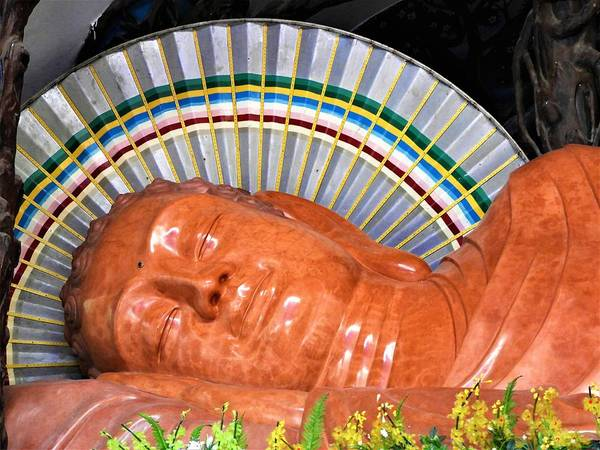 Vung Tau Photograph - Sleeping Buddha - Phu My, Vietnam by Barbara Ebeling