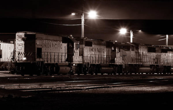 Photograph - Sleeping Giants - Union Pacific Engines by Steven Milner