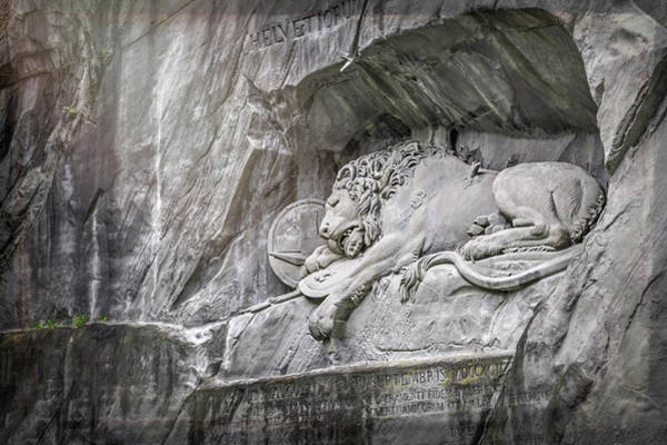 Wall Art - Photograph - Sleeping Lion Of Lucerne  by Carol Japp