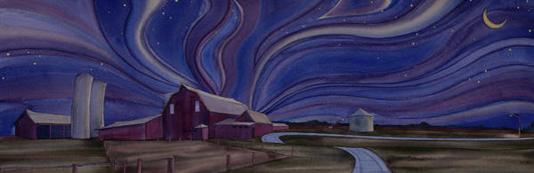 Painting - Sleepy Barns by Scott Kirby