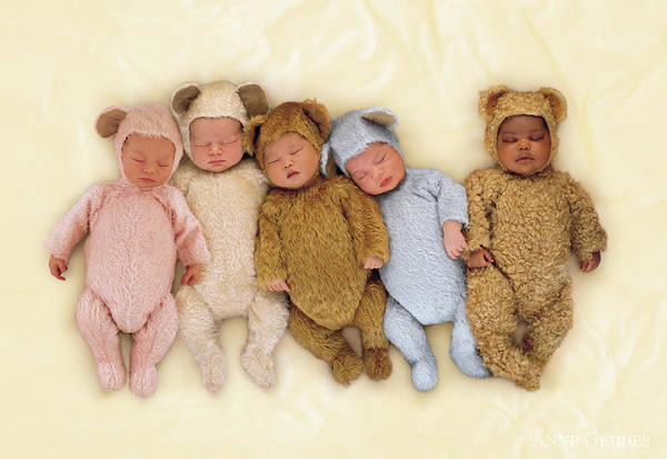 Nursery Photograph - Sleepy Bears by Anne Geddes