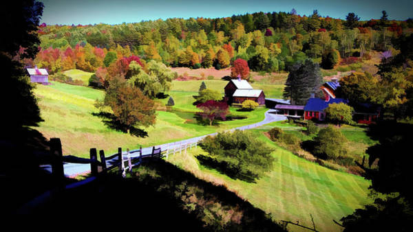 Digital Art - Sleepy Hallow Farm, Woodstock, Vermont by Joseph Hendrix
