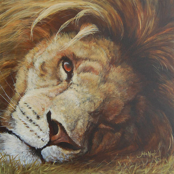 Wall Art - Painting - Sleepy Head by Julie Nash