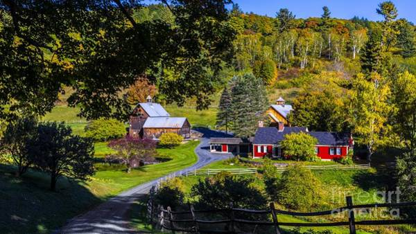 Photograph - Sleepy Hollow Farm In South Pomfret Vermont. by New England Photography