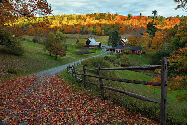 Photograph - Sleepy Hollow Farm- Pomfret Vt by John Vose