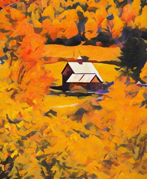 Painting - Sleepy Hollow October Orange by Dan Sproul