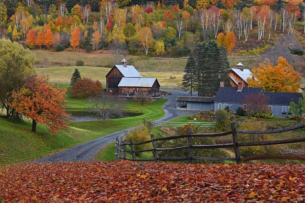 Photograph - Sleepy Hollows Farm Woodstock Vermont Vt Autumn by Toby McGuire