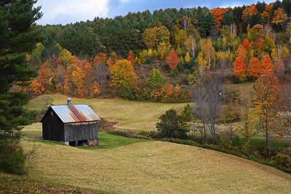 Photograph - Sleepy Hollows Farm Woodstock Vermont Vt Pond Shack by Toby McGuire