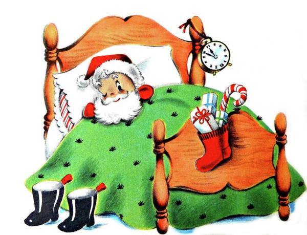 Santa Mixed Media - Sleepy Santa by Long Shot