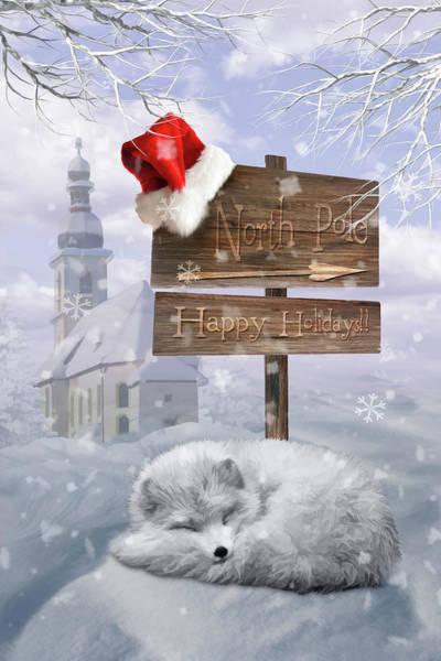 Wall Art - Digital Art - Sleepy Winter Fox by Mihaela Pater