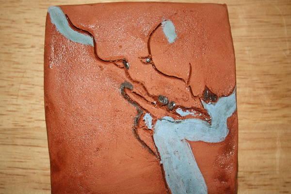 Ceramic Art - Sleepyhead - Tile by Gloria Ssali