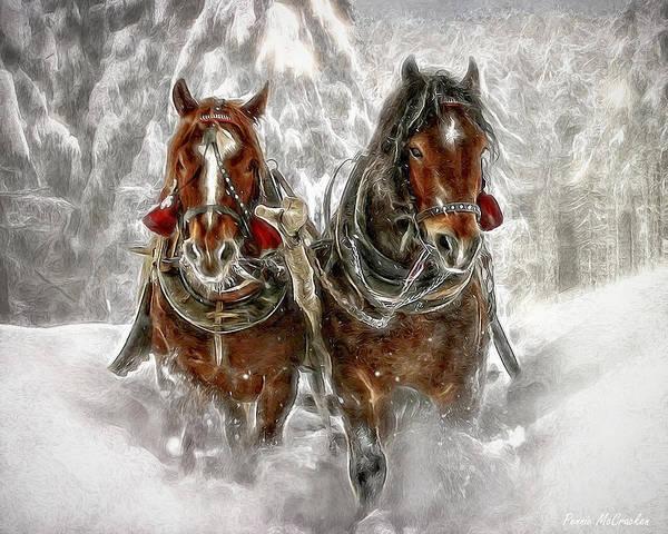 Digital Art - Sleigh Ride by Pennie McCracken