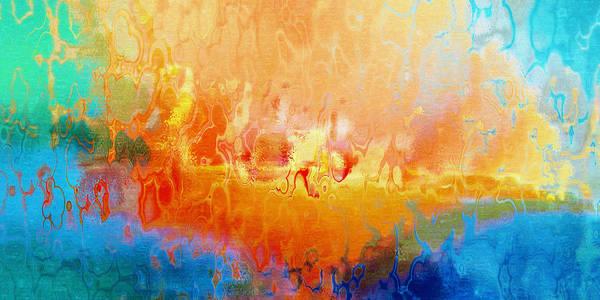 Mixed Media - Slice Of Heaven Horizontal - Abstract Art by Jaison Cianelli