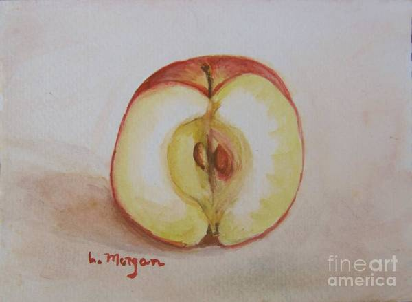 Painting - Sliced Apple by Laurie Morgan