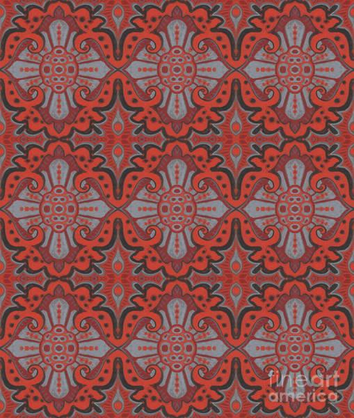 Mixed Media - Sliced Pomegranate by Julia Khoroshikh