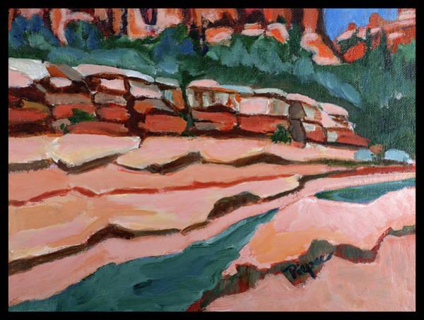 Oak Creek Canyon Painting - Slide Rock Park In Arizona by Betty Pieper