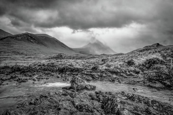 Photograph - Sligachan Bridge Landscape Bw #h4 by Leif Sohlman