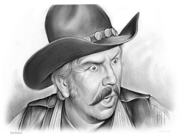 Television Drawing - Slim Pickens by Greg Joens