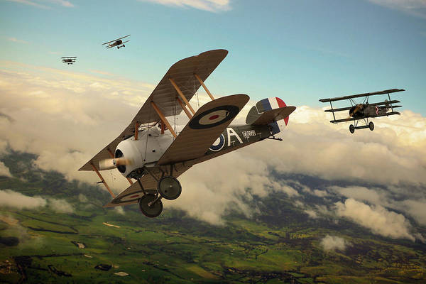 Wwi Wall Art - Digital Art - Slipping The Reaper by Mark Donoghue