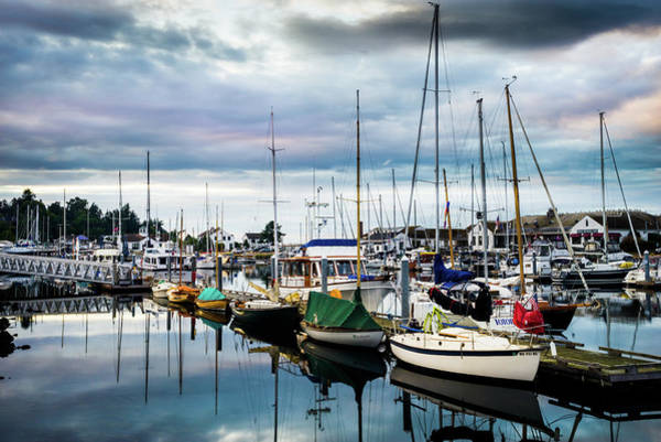 Port Townsend Photograph - Slips At Point Hudson Marina by TL Mair