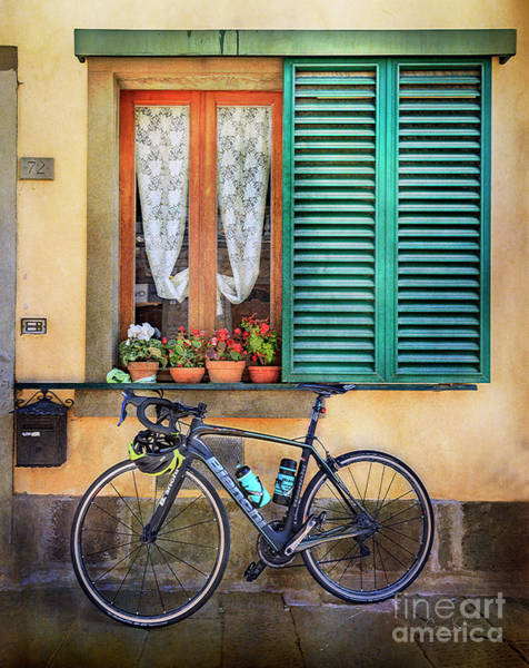 Photograph - Sliver And Black Bianchi Bicycle by Craig J Satterlee
