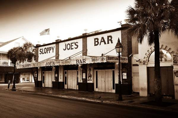 Key West Photograph - Sloppy Joe's - Key West Florida by Bill Cannon
