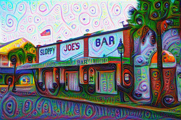 Painting - Sloppy Joes Bar In Key West by Bill Cannon