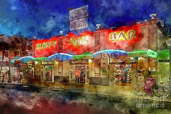 Square Mile Wall Art - Painting - Sloppy Joes Key West by Jon Neidert