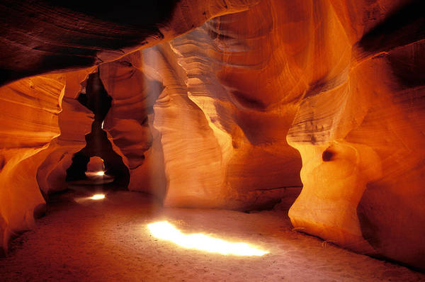 Shaft Wall Art - Photograph - Slot Canyon Warm Light by Garry Gay