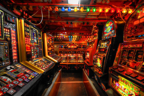 Slot Machines Art Print