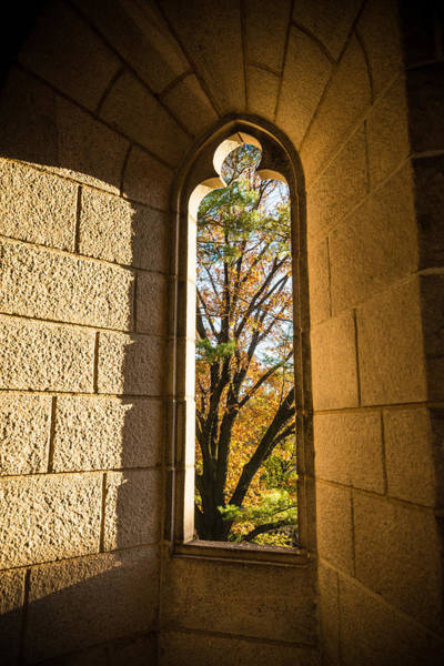Cloister Photograph - Slot Window by Kristopher Schoenleber