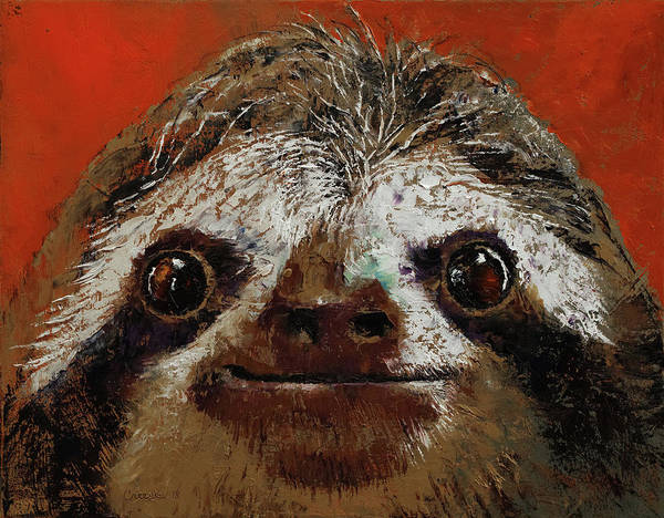 Wall Art - Painting - Sloth by Michael Creese