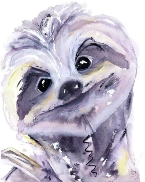 Painting - Sloth Portrait by Dawn Derman