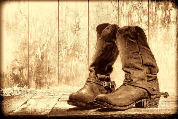 Photograph - Slouch Cowboy Boots by American West Legend By Olivier Le Queinec