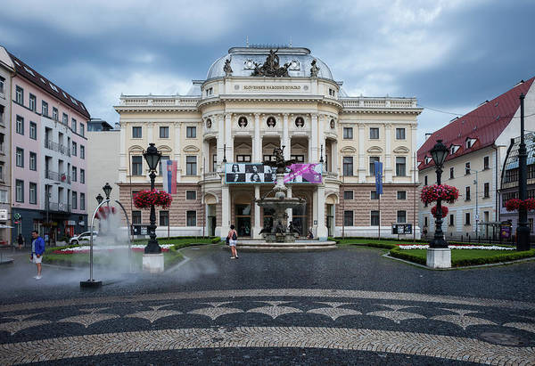 Bratislava Photograph - Slovak National Theater At Hviezdoslav Square In Bratislava by Artur Bogacki