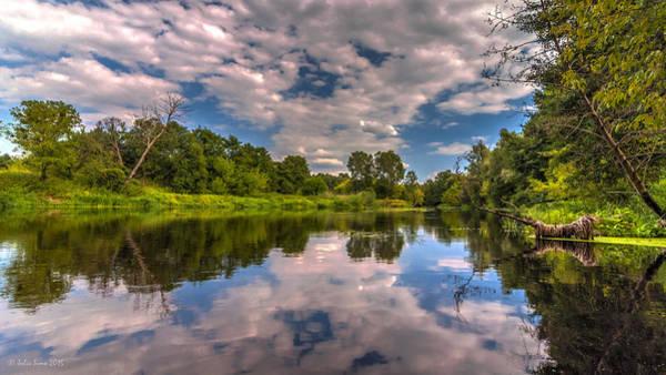 Slow River Reflections Art Print