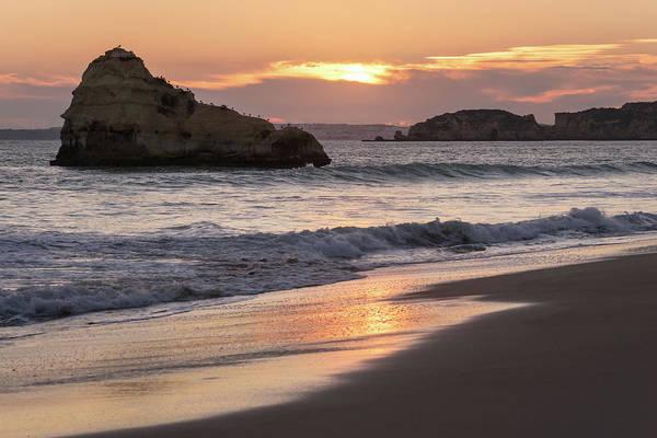 Photograph - Slow Sunset On The Beach by Georgia Mizuleva