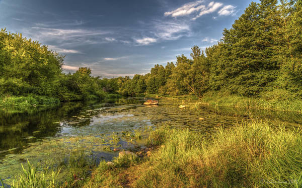 Photograph - Slow Waters Of The Wkra River by Julis Simo
