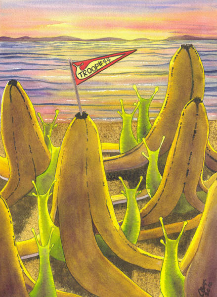 Painting - Slug Scouts by Catherine G McElroy